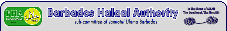 Welcome To The Homepage of Barbados Halaal Authority